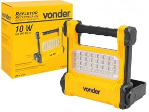 REFLETOR LED VONDER ALDO SOLAR 8075010900 REFLETOR RECARRREGÁVEL LED SMD 10W