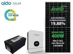 GERADOR DE ENERGIA GROWATT OFF SEM ESTR ALDO SOLAR GF 2,4KWP SPF 3KVA MPPT MONO 120V 4,8KWH