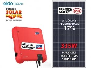 GERADOR DE ENERGIA SMA COLONIAL ROMAGNOL ALDO SOLAR GEF 6,03KWP BYD POLI HALF CELL SUNNY BOY 5KW 2MPPT MONO 220V