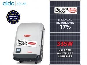 GERADOR DE ENERGIA FRONIUS COLONIAL SGR ALDO SOLAR GEF 6,03KWP BYD POLI HALF CELL PRIMO 5KW 2MPPT MONO 220V