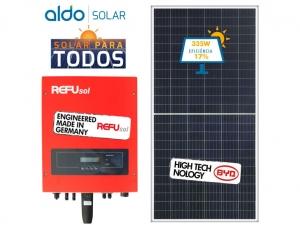 GERADOR DE ENERGIA REFUSOL S/ ESTRUTURA ALDO SOLAR GEF 4,02KWP BYD POLI HALF CELL ONE 3KW 2MPPT MONO 220V