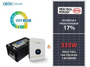 GERADOR DE ENERGIA GROWATT OFF SOLO ROM ALDO SOLAR GF 2,01KWP SPF 3KVA MPPT MONO 120V 4,8KWH