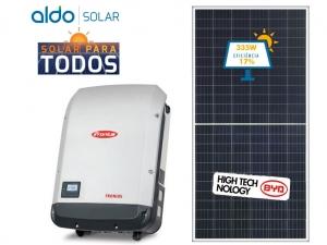 GERADOR DE ENERGIA FRONIUS ONDULADA GEF 2,68KWP BYD POLI HALF CELL PRIMO 3KW 2MPPT MONO 220V