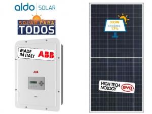 GERADOR DE ENERGIA ABB S/ ESTRUTURA GEF 2,68KWP BYD POLI HALF CELL UNO 3.3KW 2MPPT MONO 220V